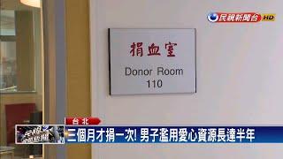 男子濫用捐血站資源 遭民眾勸導後起口角-民視新聞