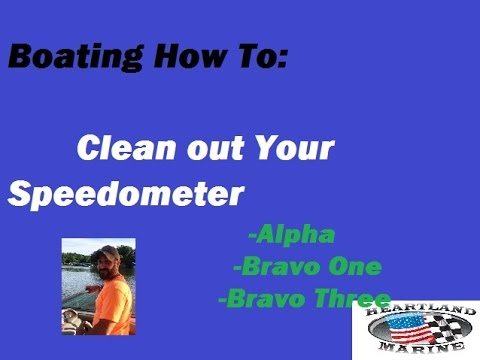 How to clean blocked or clogged boat Speedo