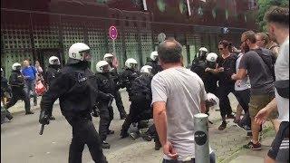 G20-Chaos auf der Reeperbahn: Polizei und Demonstranten gehen aufeinander los