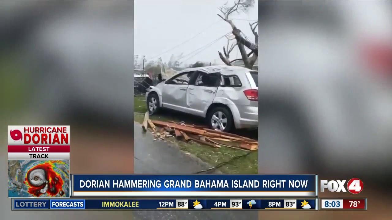Hurricane Dorian hammering Grand Bahama Island