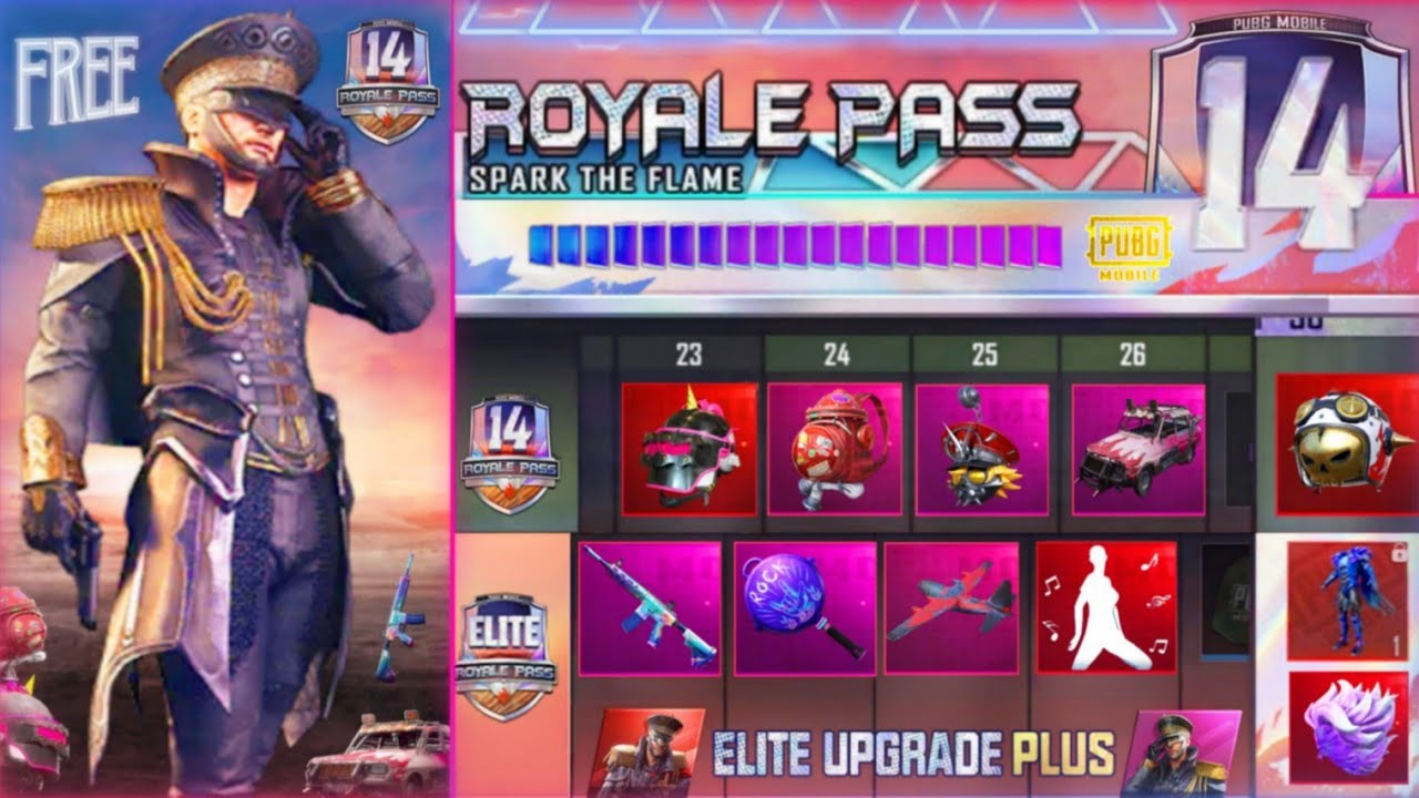 PUBG MOBILE SEASON 14 NEW LEAKS : 100 RP REWARDS,ROYAL PASS AND FIRST LOOK WITH FEATURES