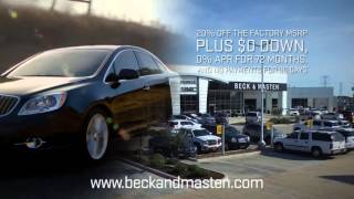 $ave on Buick only at Beck & Masten Buick GMC North!