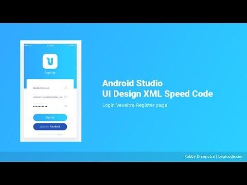 Login Page Veveltra   Android Studio UI Design XML Speed Code