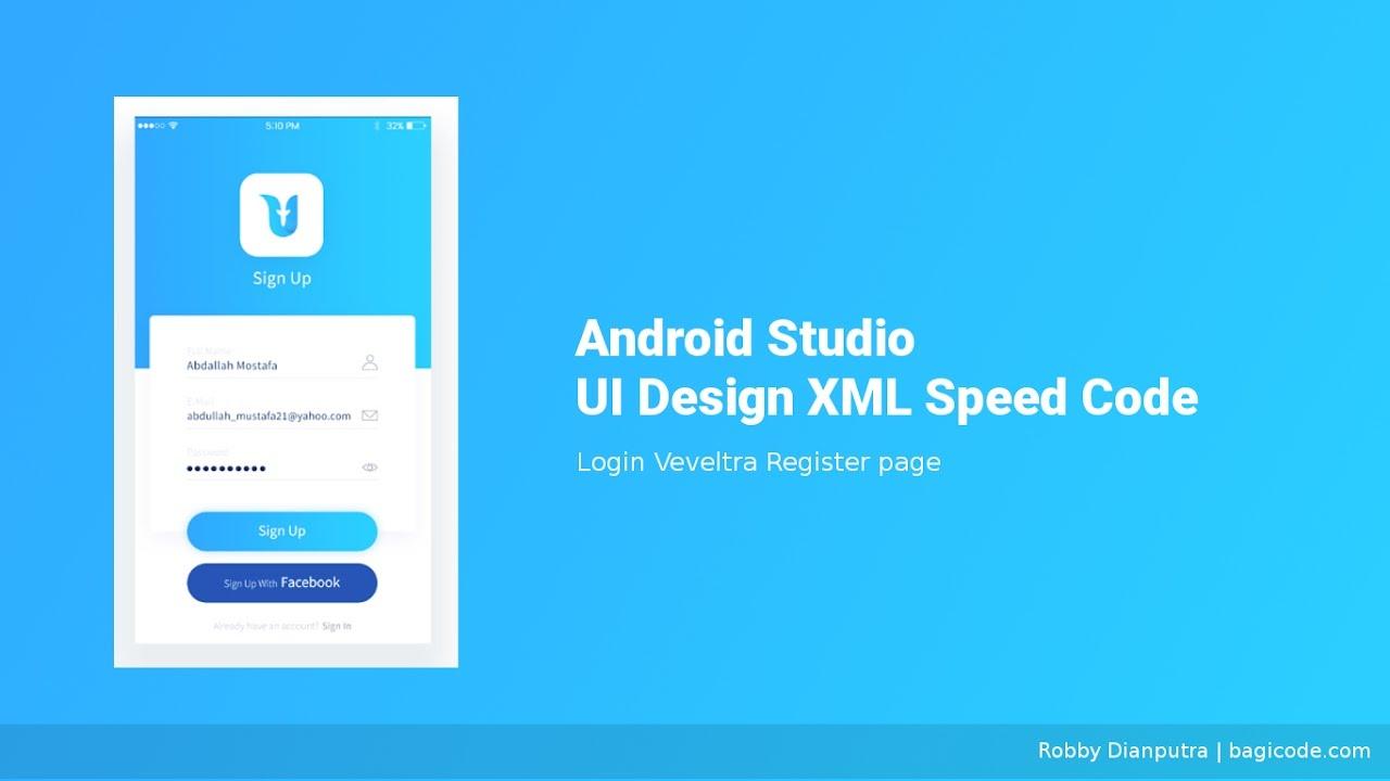 Login Page Veveltra | Android Studio UI Design XML Speed ...