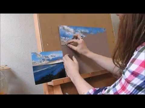 Pastel Landscape Painting Demonstration by Nathalie Jaguin