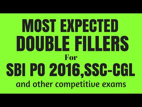 Best Tricks to Solve Double Fillers for SBI PO, IBPS PO and Clerk | Part- 2 | in English