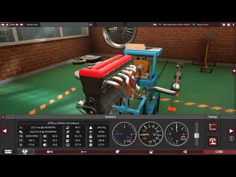 Mercedes Benz M104 2.8L Stock/Modified in Automation game.