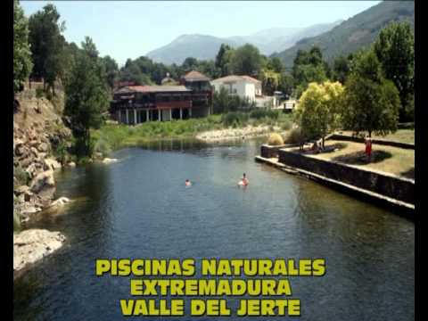 Piscinas naturales extremadura valle del jerte youtube for Piscinas naturales villanueva del conde