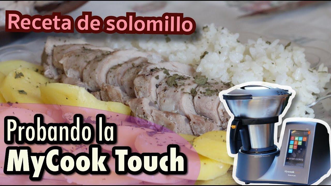 Probando la MyCook Touch: Receta de solomillo con arroz y patatas panaderas