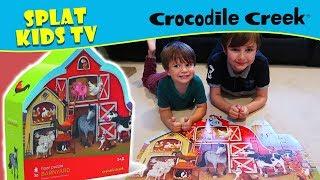 Crocodile Creek Barnyard Floor Puzzle & Dance Floor Puzzle
