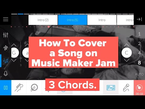 How to Cover 441 Songs in Music Maker Jam with 7 Chords -  Vocals: Mrs. C - Chord Changes #getloudly