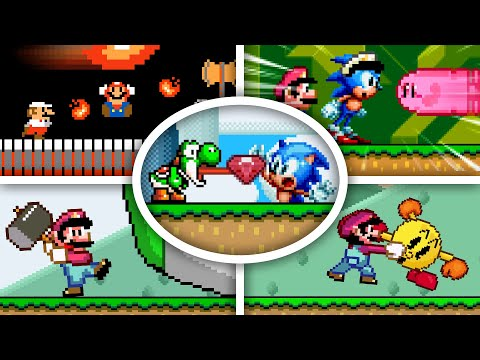 Famous OP Pixel Characters - Mario Vs Sonic Vs Pacman Vs Kirby Animation (Season 1)