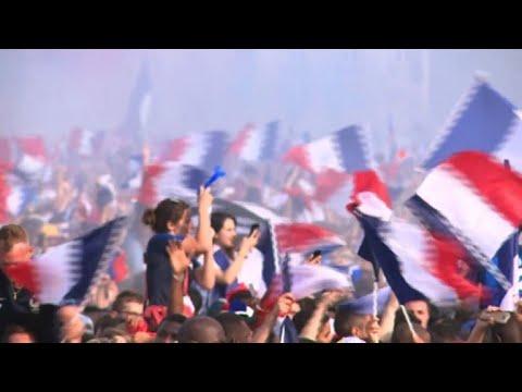 France 2018 World Champions: Paris fan zone errupts with joy