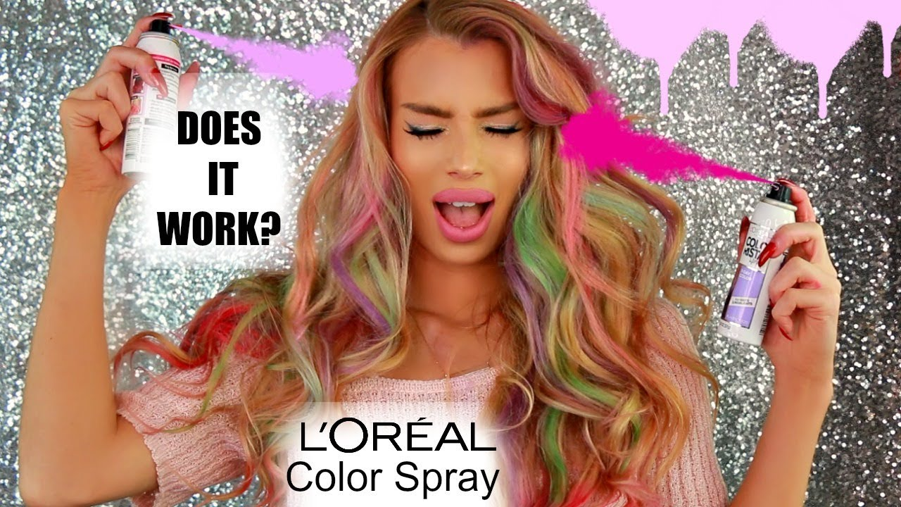 L'ORÉAL COLORISTA SPRAYS REVIEW | Temporary | Washout Mermaid Hair | Nikki  French