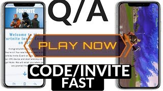 Fortnite Mobile : GET INVITE/CODES FAST FIX - Q/A