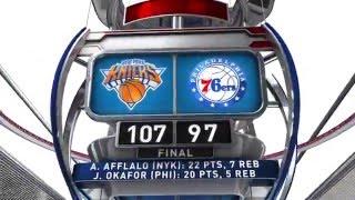 New York Knicks vs Philadelphia 76ers - December 18, 2015