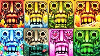 Temple Run 2 All 6 Maps Full Screen Epic Run - Pirate Cove, Lost Jungle, Spooky Summit Frozen Shadow