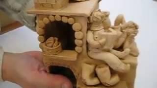 Печь подсвечник глиняный