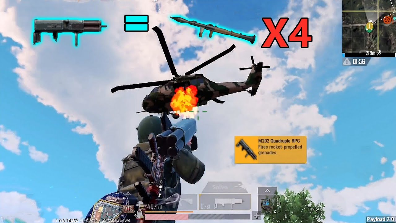 Download M202 Quadruple RPG are Payload 2.0 Strongest Weapon  | PUBG MOBILE