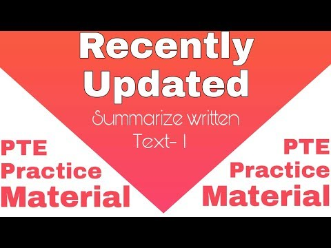Summarize written text practice PTE 1 with timer