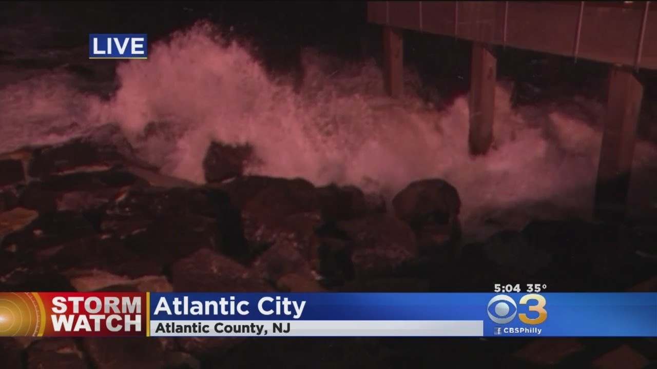 Nor'Easter Bringing Strong Winds, Pounding Waves Down Jersey Shore