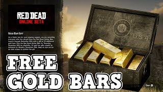 FREE GOLD BARS RED DEAD REDEMPTION 2 ONLINE UPDATE 1.05 FREE MONEY RDR2 ONLINE!