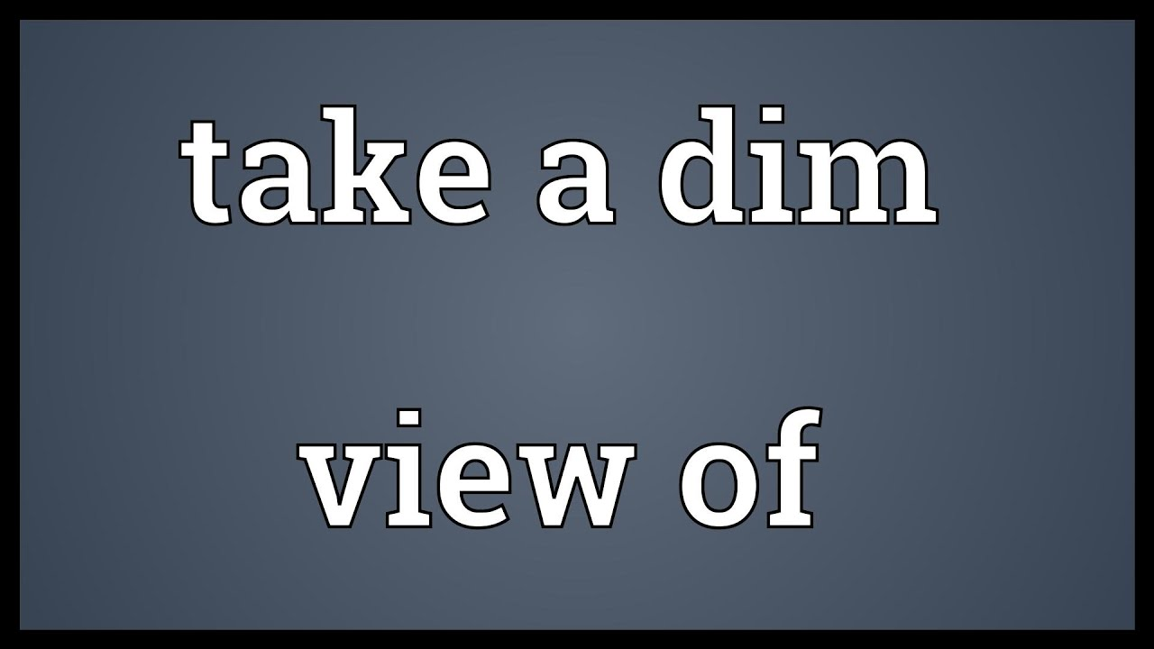 Image result for dim view
