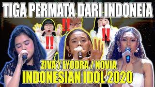 [KOREA REAKSI] 3 INDONESIAN IDOL / ZIVA, LYODRA, NOVIA / Tiga Permata dari Indonesia