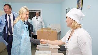 В Волчанской ЦРБ завершают капремонт здания поликлиники и хирургического отделения