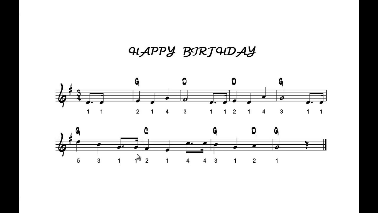 how to play happy birthday on the recorder australia