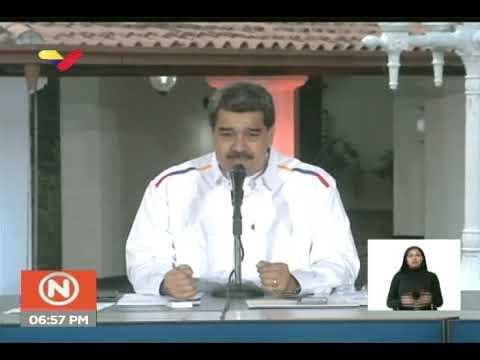 Presidente Maduro informa de la llegada a Venezuela de la Piedra Kueka