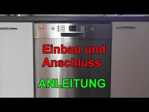 geschirrsp ler einbauen anschlie en anleitung sp lmaschine selbst installieren youtube. Black Bedroom Furniture Sets. Home Design Ideas