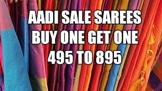 aadi offer 1+1 sarees saravana