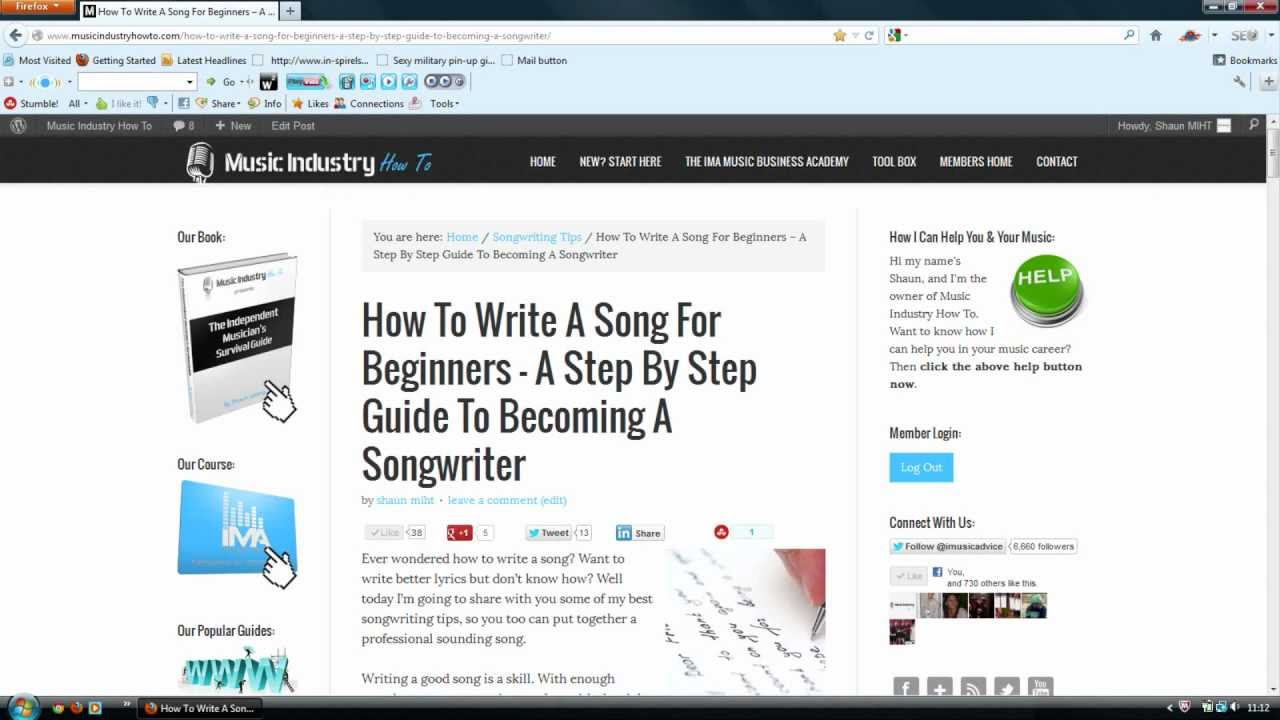 How To Write A Song For Beginners - A Step By Step Guide ...