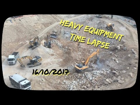 Heavy Equipment Time Lapse , Jerusalem 171016
