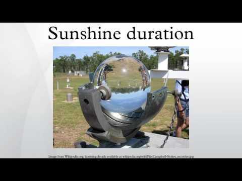 Sunshine duration