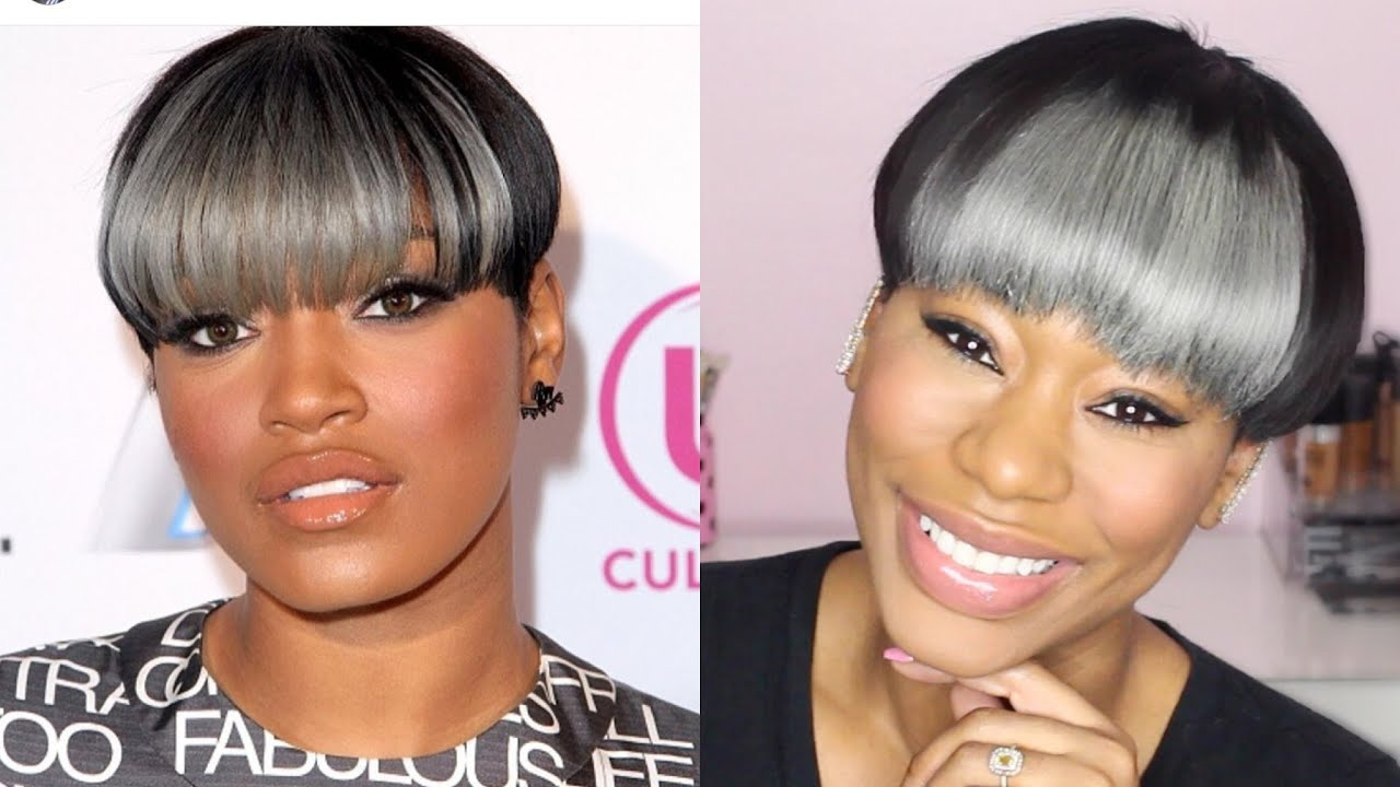 Keke Palmer Bowl Cut Wig Tutorial Chimerenicole Youtube
