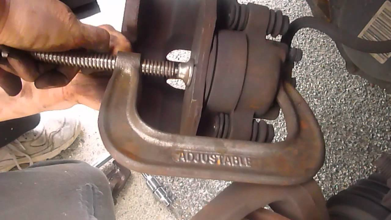 How To Replace Dodge Caravan Front Brake Pad Youtube 2000 Chrysler Engine Diagram