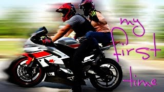 Riding on the back of a motorcycle | Don