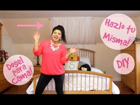 Decoraci n de cuarto diy dosel para cama vivalaskny - Como hacer un pabellon para cama ...