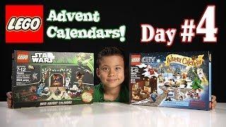 LEGO CITY Advent Calendar & LEGO STAR WARS Advent Calendar DAY 4 - 2013 Set 60024 & 75023