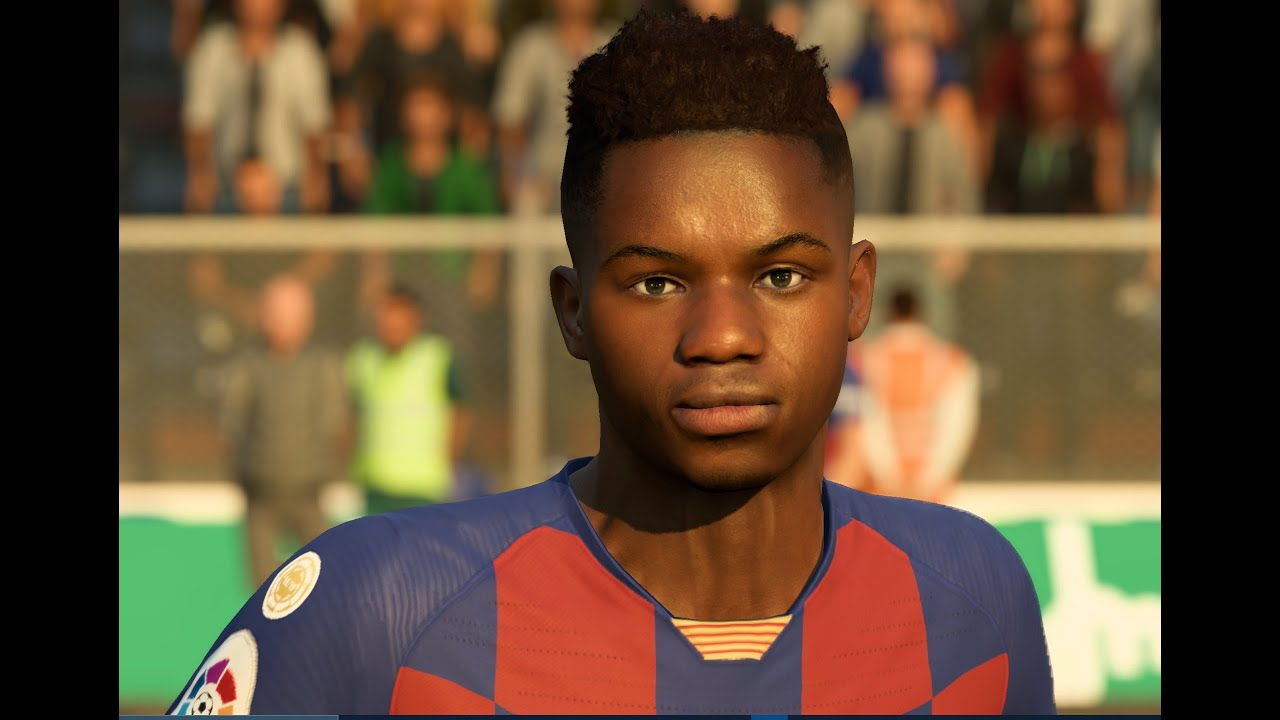Ansu Fati V2 Face Mod With Download Link Ansu Fati V2 Fifa20 Barcelona Fc Br7 Youtube