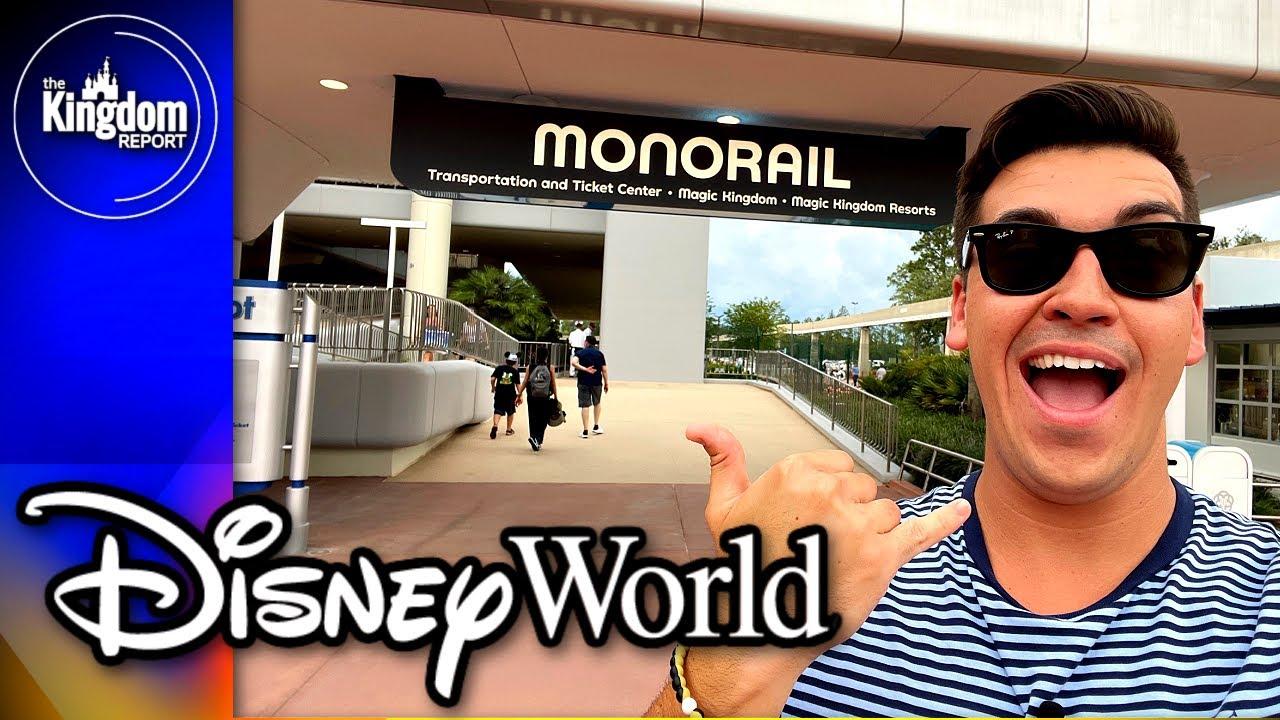 EPCOT Monorail Service RETURNS To Walt Disney World Resort