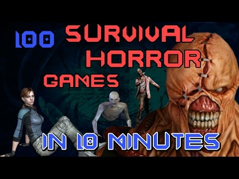 100 SURVIVAL HORROR games in 10 minutes