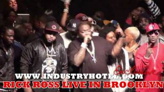 """Rick Ross LIVE in Brooklyn 3 of 9 performs """"Everyday I'm Hustling"""" Industryhotel.com"""""""