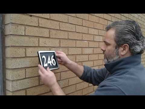 Easy guide to fitting an aluminium house sign number to you home