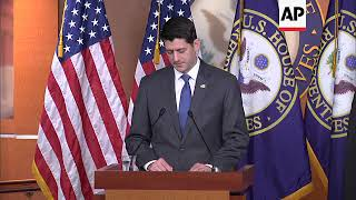 US House Speaker Paul Ryan distances himself from Trump's Putin call