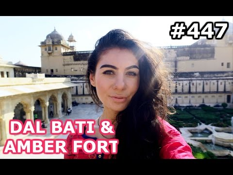 BEST INDIAN FOOD AND AMBER FORT | JAIPUR DAY 447| INDIA | TRAVEL VLOG IV