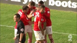 GOAL: Adam Armstrong scores on his Barnsley debut