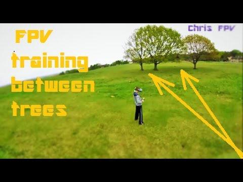 FPV Training BETWEEN TREES Eachine Wizard x220 FPV Quadcopter drone racing quadcopter